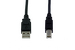 USB 2.0 A Male to B Male Cable, Black, 6'