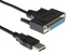 USB to Parallel DB25 Female Printer Cable, 5'