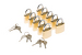 10 Pack of Padlocks for Lockable TV Wall Mounts