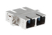 SC to SC Singlemode Duplex Fiber Optic Adapter Metal Housing