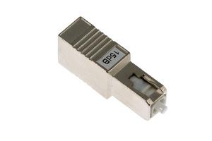 Fiber Optic Attenuator, Singlemode SC/UPC, 15 dB