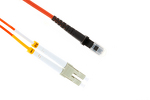 LC to MTRJ Multimode Duplex 50/125 Fiber Cable, 1 Meter