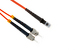 ST to MTRJ Multimode Duplex 50/125 Fiber Patch Cable, 7 Meters
