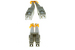 LC to SC Multimode Duplex 62.5/125 Fiber Adaptor Cable, 1 foot