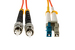 LC to ST Mode Conditioning 62.5/125 Fiber Patch Cable, 1 Meter