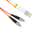 LC to FC Multimode Duplex 62.5/125 Fiber Patch Cable, 31 Meters