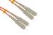 SC to SC Multimode Duplex 62.5/125  Fiber Patch Cable, 0.3 Meter