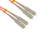 SC to SC Multimode Duplex 62.5/125 Fiber Patch Cable, 7 Meters