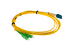 LC/UPC to SC/APC Singlemode Duplex Fiber Patch Cable, 3 Meters