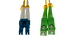 LC/UPC to SC/APC Singlemode Duplex Fiber Patch Cable, 15 Meters