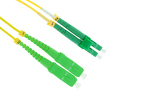 LC/APC to SC/APC Singlemode Duplex 9/125 Fiber Patch Cable, 12M