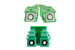 LC/APC to SC/APC Singlemode Duplex 9/125 Fiber Patch Cable, 12M