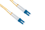 LC to LC Singlemode Duplex 9/125 Fiber Patch Cable, 11 Meters