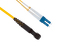 LC to MTRJ Singlemode Duplex 9/125 Fiber Patch Cable, 8 Meters