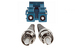 LC to ST Singlemode Duplex 9/125 Fiber Patch Cable, 3 Meters
