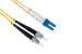 LC to ST Singlemode Duplex 9/125 Fiber Patch Cable, 14 Meters