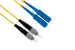 SC to FC Singlemode Duplex 9/125 Fiber Patch Cable, 9 Meters