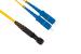 SC to MTRJ Singlemode Duplex 9/125 Fiber Patch Cable, 1 Meter