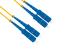 SC to SC Singlemode Duplex 9/125 Fiber Patch Cable, 2 Meters