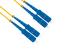 SC to SC Singlemode Duplex 9/125 Fiber Patch Cable, 11 Meters