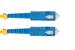 SC to SC Singlemode Duplex 9/125 Fiber Patch Cable, 18 Meters