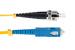 SC to ST Singlemode Duplex 9/125 Fiber Patch Cable, 9 Meters