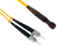 ST to MTRJ Singlemode Duplex 9/125 Fiber Patch Cable, 2 Meters