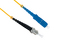 SC to ST Singlemode Simplex 9/125 Fiber Patch Cable, 1 Meter