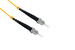 ST to ST Singlemode Simplex 9/125 Fiber Patch Cable, 10 Meters