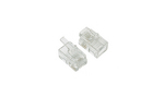 Modular Handset Plugs / Connectors, 4P4C, Qty 2