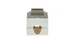 Cat6 RJ45 110 Type Keystone Jack, Gray
