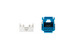 Cat6A RJ45 110 Type Keystone Jack, Blue