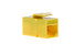 Cat5e RJ45 Inline Coupler Type Keystone Jack, Yellow