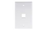 Keystone Wall Plate, 1 Port, White