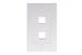 Decorative Keystone Wall Plate, 2 Port, White