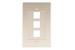 Decorative Keystone Wall Plate, 3 Port, Beige / Ivory