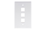 Keystone Wall Plate, 3 Port, White