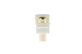 Keystone Snap In Green RCA Type F/F Module, Ivory