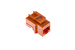 Cat5e Tool Less RJ45 Keystone Jack, Orange