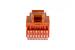 Cat5e Tool Less RJ45 Keystone Jack, Orange