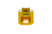 Cat5e Tool Less RJ45 Keystone Jack, Yellow