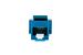 Cat6 Tool Less RJ45 Keystone Jack, Blue