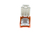 Cat6 Tool Less RJ45 Keystone Jack, Orange