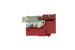 Cat6 Tool Less RJ45 Keystone Jack, Red