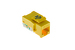 Cat6 Tool Less RJ45 Keystone Jack, Yellow