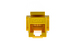 Cat6 Tool Less RJ45 Keystone Jack, Yellow