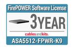 Cisco ASA5512-X FirePOWER IPS, L-ASA5512-TAMC-3Y