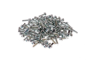 Rack Mount Cage Nut Screws, M6, Qty 100