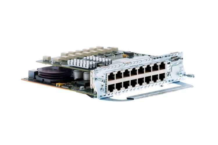 Cisco 16-port Inline Power Network Adapter, NM-16ESW-PWR, NEW