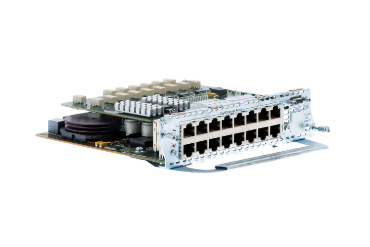 Cisco 16-port Inline Power Network Adapter, NM-16ESW-PWR